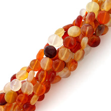 Load image into Gallery viewer, 10mm Coin Natural Carnelian Gem Stone Beads