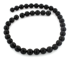 Load image into Gallery viewer, 10mm Faceted Round Black Onyx Gem Stone Beads