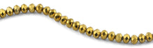 Load image into Gallery viewer, 10mm Gold Faceted Rondelle Crystal Beads