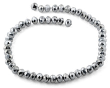 Load image into Gallery viewer, 10mm Grey Faceted Rondelle Crystal Beads