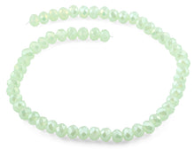 Load image into Gallery viewer, 10mm Light Green  Faceted Rondelle Crystal Beads