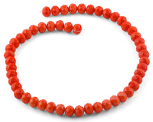 Load image into Gallery viewer, 10mm Orange Faceted Rondelle Crystal Beads