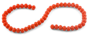 10mm Orange Faceted Rondelle Crystal Beads