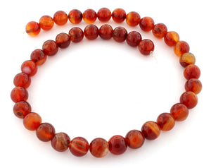 10mm Plain Round Red Agate Gem Stone Beads