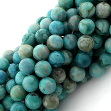 Load image into Gallery viewer, 10mm Plain Round Turquoise Jasper Gem Stone Beads