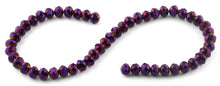 Load image into Gallery viewer, 10mm Purple Faceted Rondelle Crystal Beads