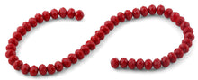 Load image into Gallery viewer, 10mm Red Faceted Rondelle Crystal Beads
