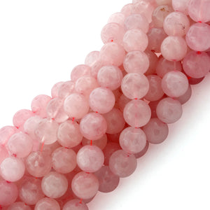 10mm Round Rose Quartz Gem Stone Beads