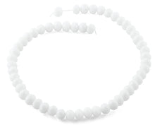 Load image into Gallery viewer, 10mm White Faceted Rondelle Crystal Beads