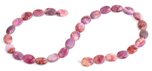 10x13MM Pink Matrix Oval Gemstone Beads