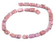 Load image into Gallery viewer, 10x13mm Pink Matrix Rectangular Beads