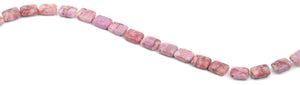 10x13mm Pink Matrix Rectangular Beads
