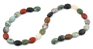 10x14MM Multi-stones Puffy Oval Gemstone Beads