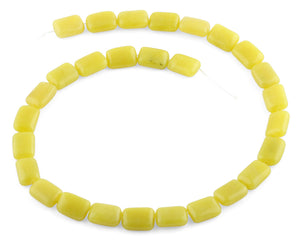 10x14MM Olive Jade Puffy Rectangle Gemstone Beads