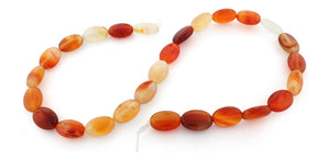 10x14mm Oval Natural Carnelian Gem Stone Beads