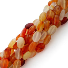 Load image into Gallery viewer, 10x14mm Oval Natural Carnelian Gem Stone Beads