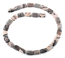 Load image into Gallery viewer, 10x14MM Pink Zebra Jasper Rectangular Gemstone Beads