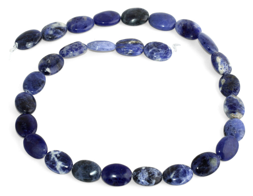 10x14MM Sodalite Oval Gemstone Beads
