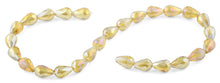 Load image into Gallery viewer, 10x15mm Champagne Drop Faceted Crystal Beads