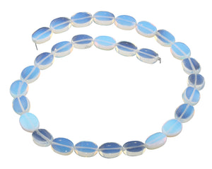 11x14MM Transparent Opalite Glass Puffy Oval Gemstone Beads