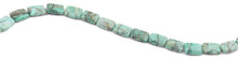 Load image into Gallery viewer, 11x15mm Green Matrix Rectangular Beads