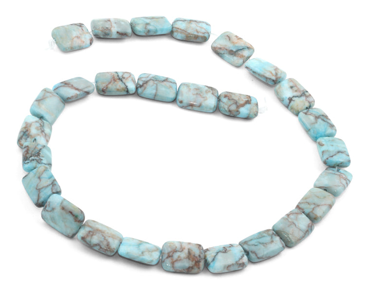 11x15mm Turquoise Jasper Stone Rectangular Beads