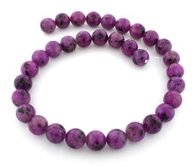 Load image into Gallery viewer, 12mm Plain Round Purple Quartz Gem Stone Beads