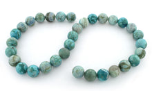 Load image into Gallery viewer, 12mm Plain Round Turquoise Jasper Gem Stone Beads