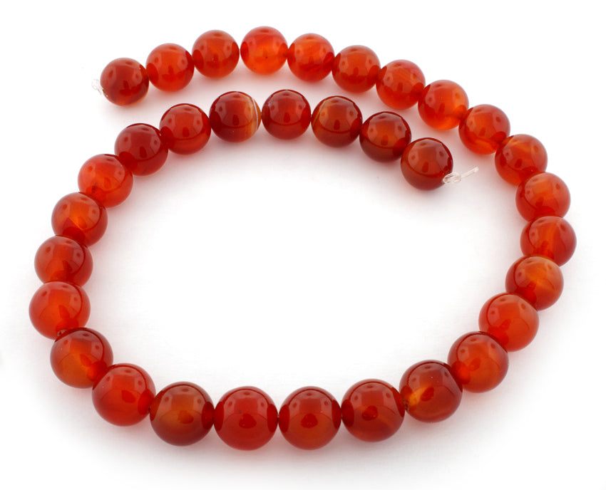 12mm Red Agate Gem Stone Beads