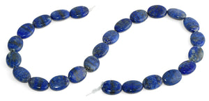 12x16MM Lapis Oval Gemstone Beads