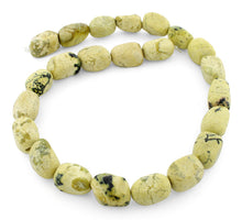 Load image into Gallery viewer, 12x16mm Nugget Yellow Turquoise Gem Stone Beads