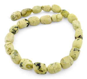 12x16mm Nugget Yellow Turquoise Gem Stone Beads