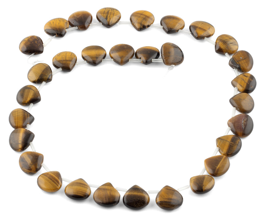 13x13MM Tiger Eye Pear Gemstone Beads