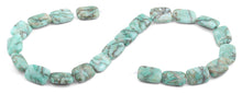Load image into Gallery viewer, 13x18mm Green Matrix Rectangular Beads