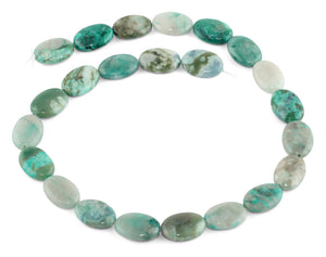 13x18MM Green Turquoise Jasper Oval Gemstone Beads
