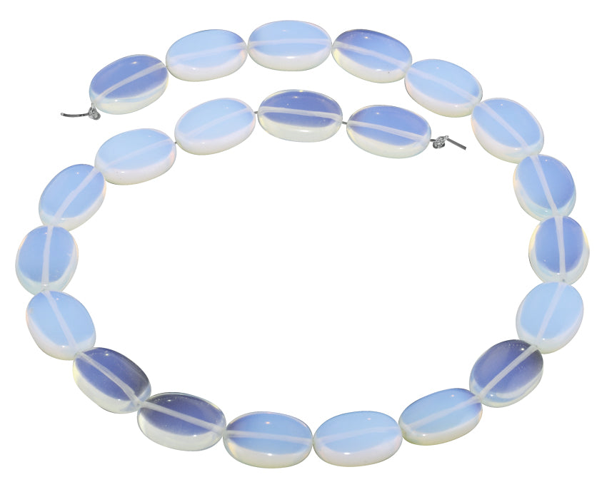 13x18MM Milky White Opalite Oval Gemstone Beads