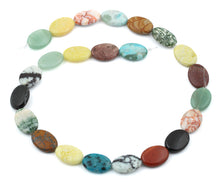 Load image into Gallery viewer, 13x18MM Multi-stones Puffy Oval Gemstone Beads