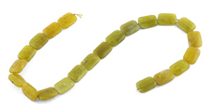13x18MM Olive Jade Rectangle Gemstone Beads