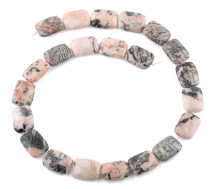 13x18MM Pink Zebra Jasper Rectangular Gemstone Beads