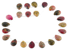 Load image into Gallery viewer, 14x19MM Red Turtle Jasper Pear Gemstone Beads