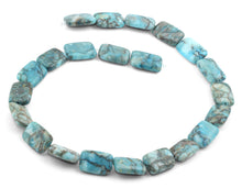 Load image into Gallery viewer, 13x18mm Turquoise Jasper Stone Rectangular Beads