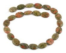 Load image into Gallery viewer, 13x18MM Unakite Oval Gemstone Beads