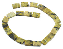 Load image into Gallery viewer, 13x18mm Yellow Turtle Jasper Rectangular Beads