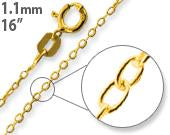 14K Gold-Plated Sterling Silver 16