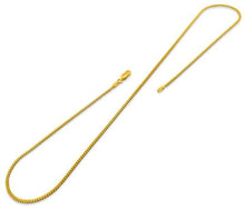 Load image into Gallery viewer, 14K Gold Plated Sterling Silver Curb Chain 2MM