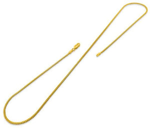 14K Gold Plated Sterling Silver Curb Chain 2MM