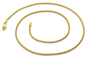 14K Gold Plated Sterling Silver Curb Chain 1.7MM