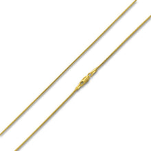Load image into Gallery viewer, 14K Gold Plated Sterling Silver Glitter Snake Chain 1.0mm