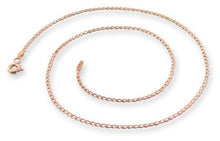 Load image into Gallery viewer, 14k Rose Gold Plated Sterling Silver Long Curb Chain 1.2mm