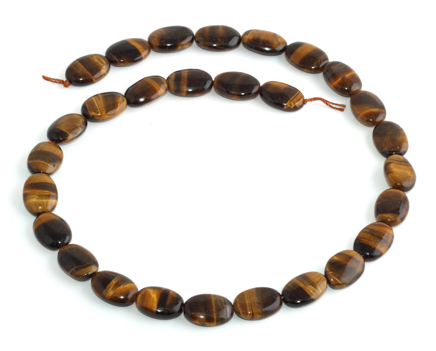 14x10MM Tiger Eye Puffy Oval Gemstone Beads